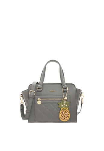 SEMBONIA grey SEMBONIA Synthetic Leather Satchel Bag (Light Grey) E65C0AC2DF5E7BGS_1
