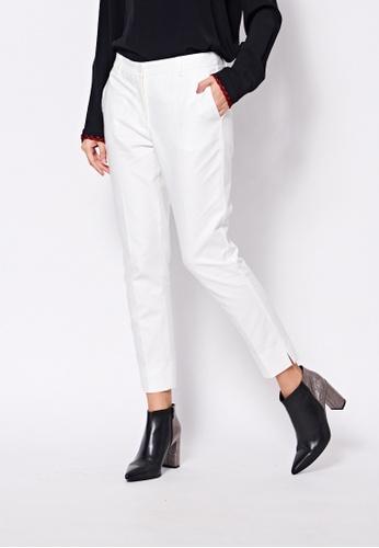 Sisley white Slim Fit Pants CC747AADA12B72GS_1