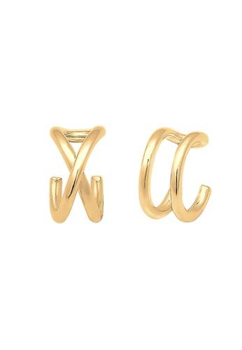 ELLI GERMANY gold Elli Germany Earrings Ear Cuff Geo Basic Minimal 925 Sterling Silver Gold Plated 4132BAC209CCFEGS_1