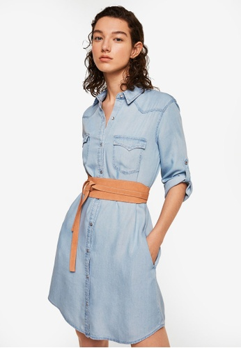 Mango blue Denim Shirt Dress EFE39AA22F6B9EGS_1