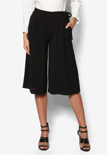褶飾繫帶五zalora是哪裡的牌子分寬管褲, 服飾, 服飾