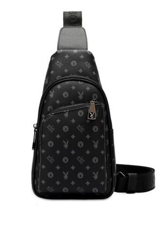 Playboy black Logo Crossbody Bag C7736ACD1E14E5GS_1