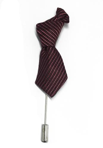Splice Cufflinks Pink & Purple Stripes Little Tie Lapel Pin SP744AC74KXPSG_1