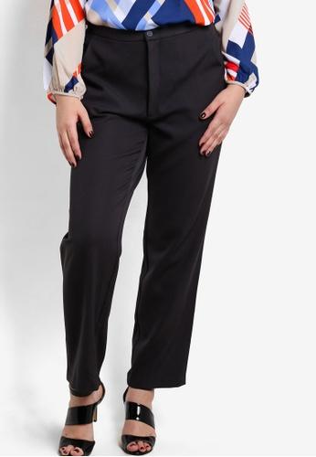 Ex'otico grey Basic Long Pants EX373AA68DHBMY_1