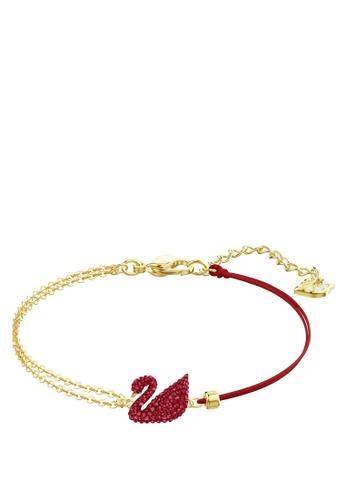 Swarovski gold Iconic Swan Bracelet 2CA4AAC90193B0GS_1