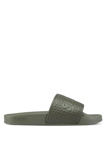 Slydes green Cali Sandals 6206ESH1A4A1FEGS_1