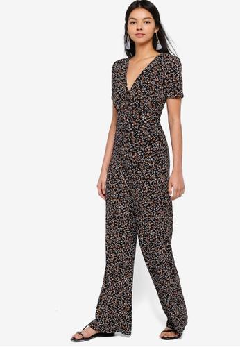 56abce93b6 Buy Miss Selfridge Floral Print Jersey Jumpsuit Online on ZALORA ...