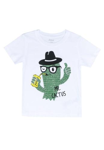 FOX Kids & Baby white Mr Cactus Tee 66160KABBFAF84GS_1