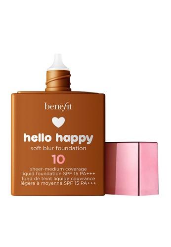 Benefit beige Benefit Hello Happy Soft Blur Foundation Shade 10 174CBBE098F265GS_1