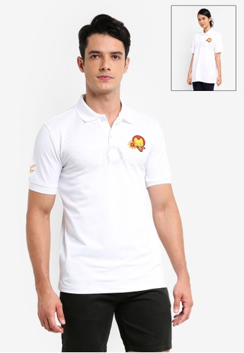 FBT white MARVEL Kawaii Polo Tee Iron Man CB35FAA3A95B5FGS_1