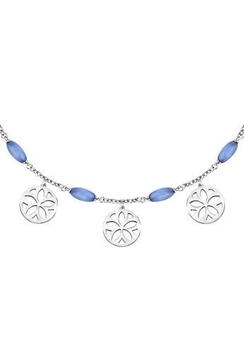 Morellato silver Morellato Fiore Blue Cat Eye Necklace SATE02 306E3ACD123C3BGS_1