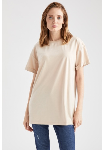 DeFacto beige Woman Knitted Short Sleeve Tunic 94720AA799186AGS_1