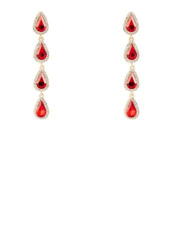 雨滴閃鑽寶石耳環, 飾品配esprit門市地址件, 耳釘