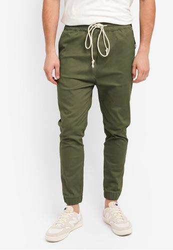 Flesh IMP 綠色 Bouseman Loop Jogger Pants D251DAA28E333DGS_1