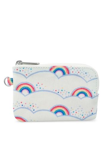 Cath Kidston beige Little Rainbows Curve Zip Purse 0A4D4AC98C5DA9GS_1