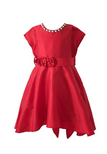Pretty Girl Collection red Mystic Party Dress in Red 103EEKA69F09E6GS_1