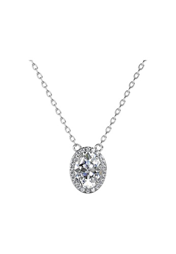 Her Jewellery silver CELÈSTA Moissanite - La Reine Pendant (925 Silver with 18K White Gold Plating) by Her Jewellery 59CE6ACB75D235GS_1