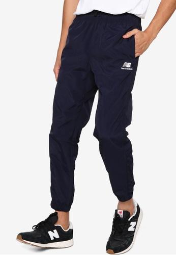 New Balance navy Athletics Wind Pants CDC57AAC26DC37GS_1