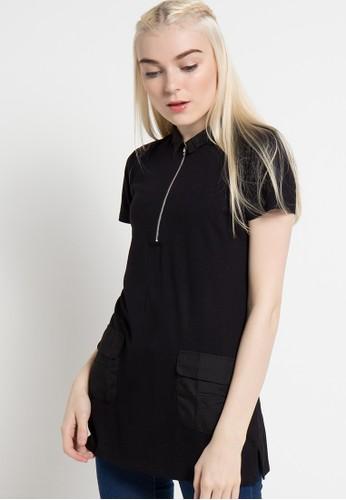 Cressida Ladies black Zipper Top CR653AA35JTKID_1