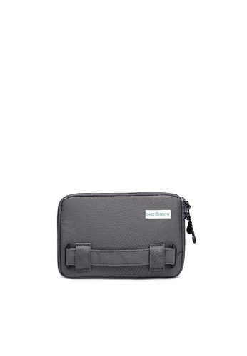 The Dude grey Passage RFID Protected Travel Bag DD85FACAD96F28GS_1