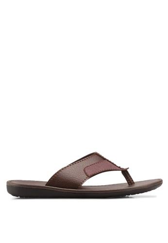 Bata brown Casual Toe Post Sandals A34E6SH3C602E5GS_1