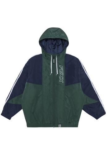 Fingercroxx green Two tone jacket 523D6AAC11E5B5GS_1