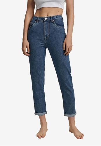 Cotton On blue Stretch Mom Jeans B08B5AA92394EBGS_1