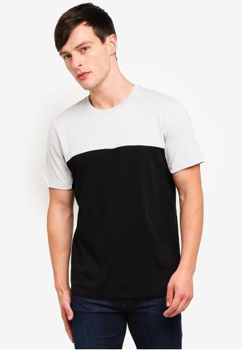 Topman 黑色 品牌刺繡T恤 66D08AAC1BB3FAGS_1