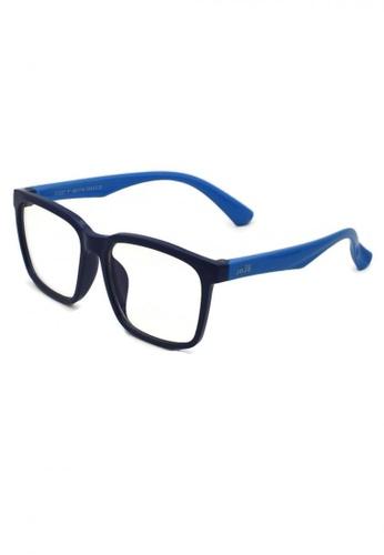 jojo blue Wayfarer Blue Light Filtered Glasses 3C660KC4548B17GS_1
