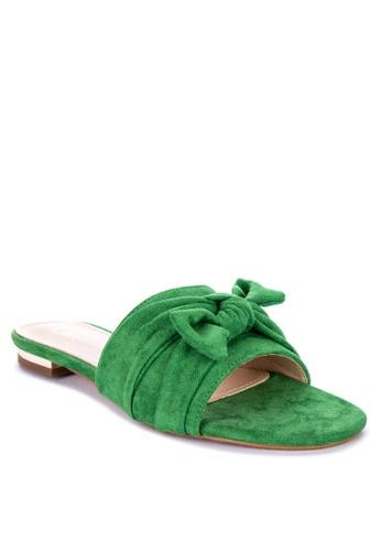 ABOUT A GIRL green Flats Slide 02743SH830D40BGS_1