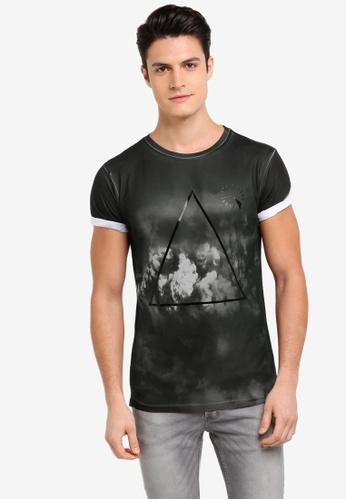 River Island black TRIANGLE CLOUDS 6AC64AAE46864AGS_1