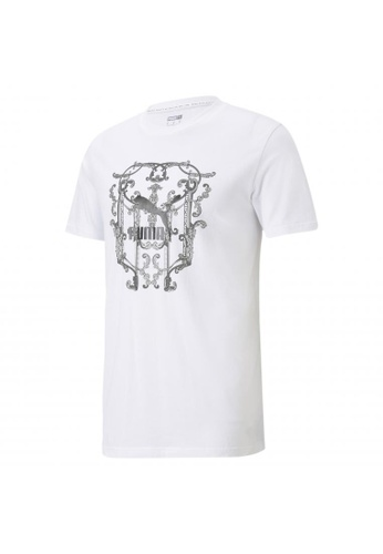 Puma white Luxe Graphic Men's Tee 1B1F1AA5FDDFA1GS_1