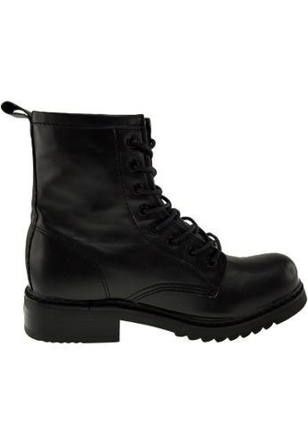 Maxstar black Maxstar Women's 303 Lace Up Mid Calf PU Combat Boots US Women Size MA164SH82QSBSG_1