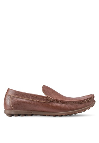 Obermain brown Marten Loafers OB115SH24SYPMY_1