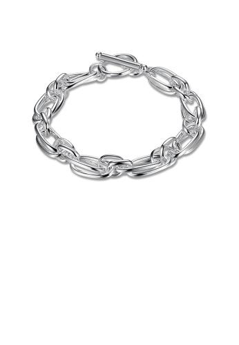 Glamorousky silver Fashion Simple Geometric Bracelet B08EEACD66E5D1GS_1