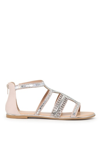 London Rag beige London Rag Sue Women's Nude  Synthetic T-strap Open Toe Flat Sandals SH1607 B3EDBSHCBC64EBGS_1