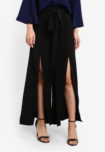Preen & Proper black Long Pants With Front Slits PR614AA0S9VFMY_1