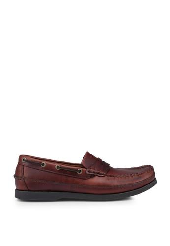 Lumberjacks brown Penny Boat Shoes 8B9EFSH7E18397GS_1