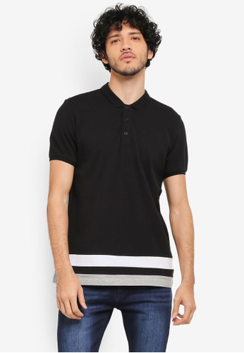 ZALORA black and multi Colourblocking Polo Shirt 4FBAEAA5839996GS_1