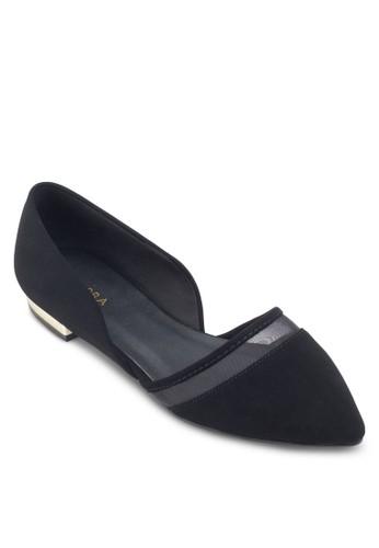 網眼拼接側空平底鞋、 女鞋、 鞋ZALORA網眼拼接側空平底鞋最新折價