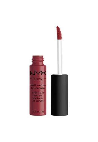 NYX Professional Makeup brown NYX Professional Makeup Soft Matte Lip Cream - BUDAPEST 1AA22BEA7337A9GS_1