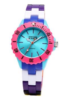 Newyork Army Women's Blue Dial Muliticolor Strap Watch NYA104