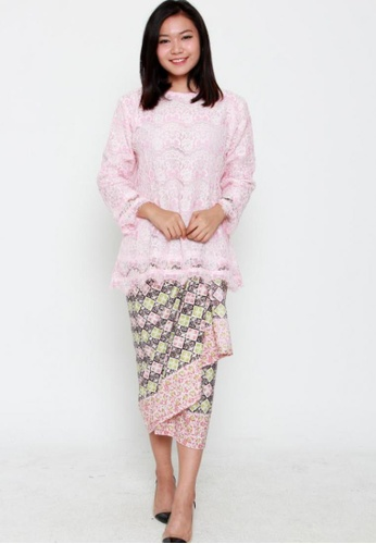 Naphthys Collection pink Zahra Lace Top NA003AA0FKJ0SG_1