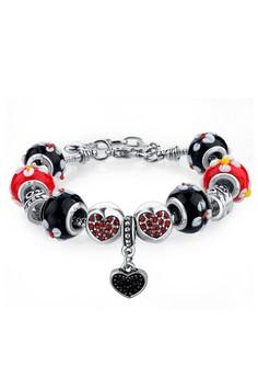 Floral Hearts Studded Disney Color Combi Bracelet by ZUMQA