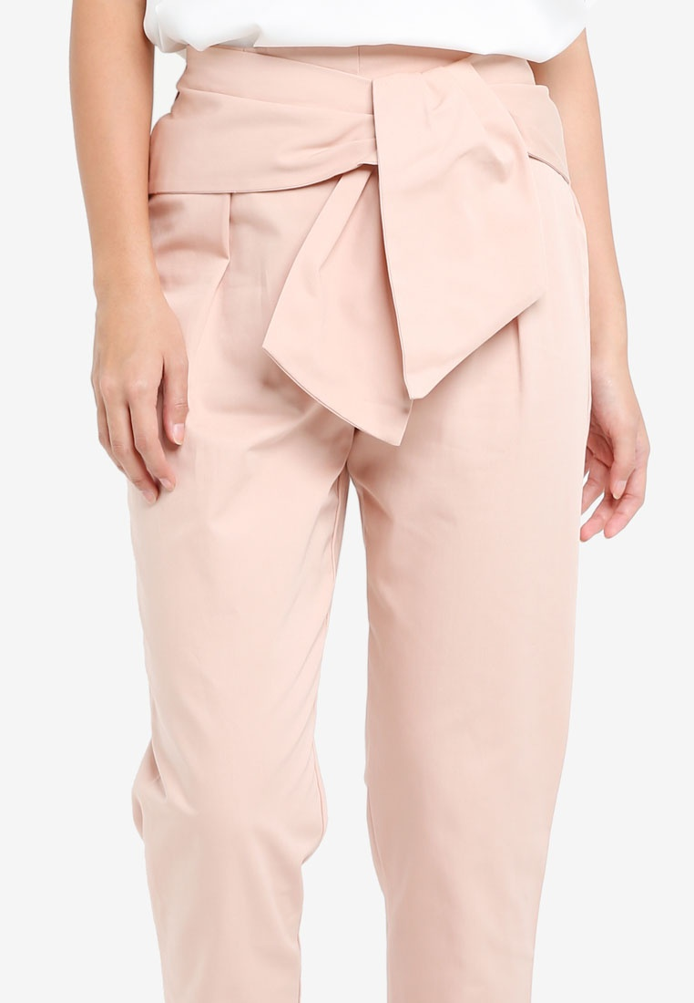 Pink Island River Pink Tie Light Peg Front Trousers nPgxRPTO