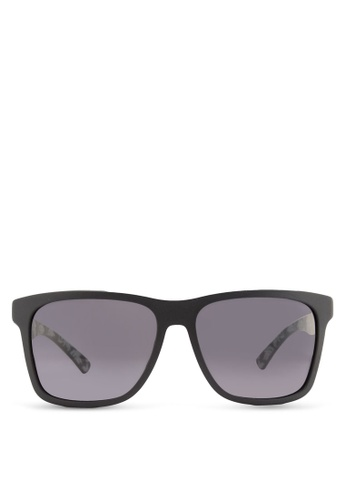Boss Orange black Modern Squared Rubber Sunglasses BO434GL85HRYMY_1