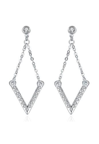 Tiaria white Tiaria Classic Square Ear Hook & Earrings White Gold Aksesoris Anting AKE093--K09 1921FACEDDB13DGS_1