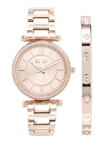 SO&CO pink and gold Madison 5515.3 Watch Set 0A878AC6DCBD97GS_1