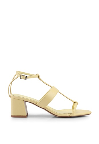 Nose yellow Strappy Block Heel Sandals FAB91SH49A1A36GS_1