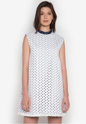 NEW ESSENTIALS white Rhett Eala Embelished Shift Dress NE239AA0JD3JPH_1